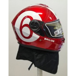 Bld 918 Boyunluklu Kırmızı - Beyaz Motosiklet Kask ( L Beden )