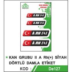 Motosiklet Sticker Kan Grubu A Rh (+)