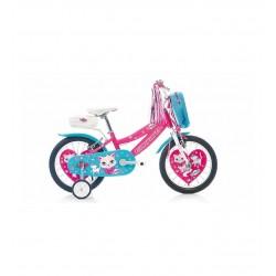 Carraro Moggy 16 Jant Çocuk Bisikleti Pembe - Beyaz