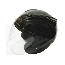 Free-m 606-b Çenesiz Motosiklet Kaskı M Beden Black Dark Orange
