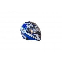 Bld-156 Çene Açılır Motosiklet Kask L Beden Mavi - Beyaz
