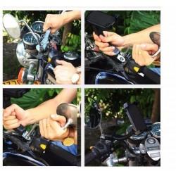 Motosiklet Telefon Tutucu Açık Scooter Ayna Bağlantılı