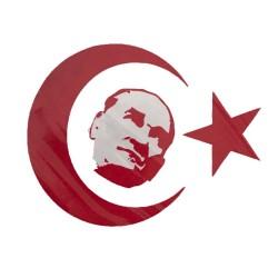Motosiklet Sticker Atatürk 10cm*8cm