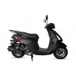 Motosiklet Falcon Style 50 Cc Benzinli Scooter Siyah