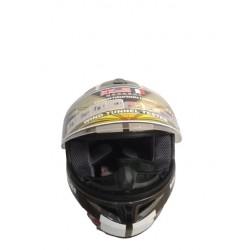 Bld 918 Boyunluklu Kahverengi - Beyaz Motosiklet Kask ( L Beden )