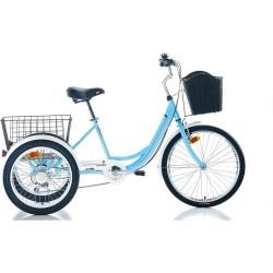 Carraro Caravan 24 Jant Kargo Bisikleti Turkuaz - Beyaz 41cm