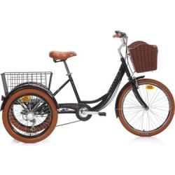 Carraro Caravan 24 Jant Kargo Bisikleti Siyah - Kahverengi 41cm