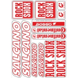 Bisiklet Yazı Takımı Salcano 1. Kalite Kırmızı