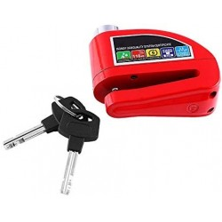 Locks Motosiklet Alarmlı Disk Kilidi kırmızı